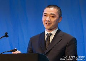 Ken Liu at the 2012 Hugo Awards in Chicago (photo by John O'Halloran)
