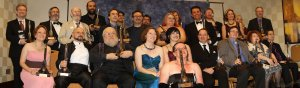 2013 Hugo Award winners panoramic shot (photo by Andrew S. Williams)
