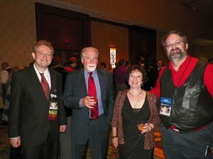 Alex Shvartsman, Robert Silverberg, Karen Haber, Bryan Thomas Schmidt (photo by Neil Clarke)