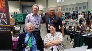 With Toni Weisskopf, David Hartwell and Shahid Mahmoud.